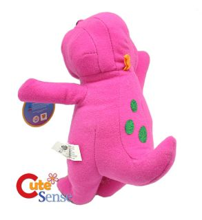 Barney Dinosaur Plush Doll New by Nanco 10in Small
