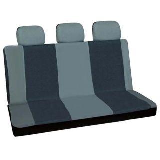 16pc Set Gray Black SUV Auto Car Seat Covers + Steering Wheel Belt Pad