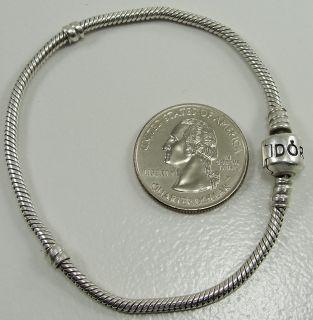 Authentic Pandora Sterling Silver Snake Chain Charm Bracelet Pandora