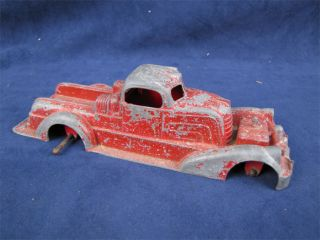 Vintage Hubley Kiddie Toy Red Fire Truck Parts Repair