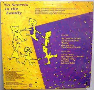 No Secrets in The Family LP Art Rock Avant Garde Recrec