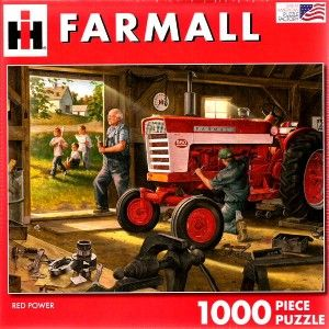 1000 Piece Jigsaw Puzzle Red Power IH Farmall Tractor Complete Mint