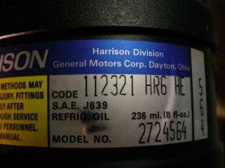 DELCO 15 2701 AC Air Conditioner COMPRESSOR 2724564 AUTO Parts #114