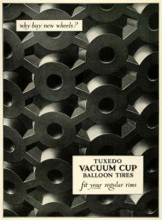Ad Tuxedo Vacuum Cup Balloon Tires Wheels Car Parts Automotive Rims