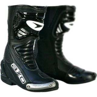 New AXO Primato II Mens Motorcycle Black Road Riding Boots Size 13 48