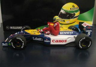1991 WILLIAMS RENAULT FW14 MANSELL AND AYRTON SENNA DA SILVA TAXI 1/18