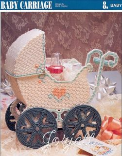 Baby Carriage Basket Annies Plastic Canvas Pattern