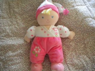 Kids Preferred My First Doll Pink Floral Velour Baby Plush Lovey 12