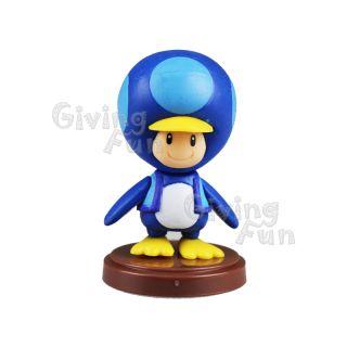 Genuine Furuta 2012 Super Mario Bros Baby Penguin Toad Action Figure