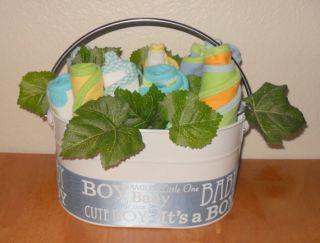 Baby Boy Flower Basket Wonderful Baby Shower Gift