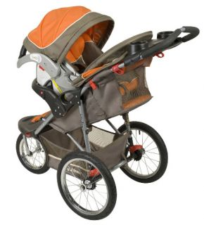 Baby Trend Orange Oak Jogger Jogging Travel System Stroller Car Seat