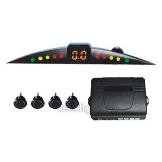 Car Parking Reverse Sensors Backup Alarm Auto LED Black