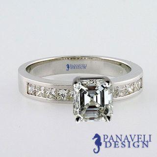 Vintage Style 1 20 Ct Asscher Cut Diamond Engagement Ring Platinum