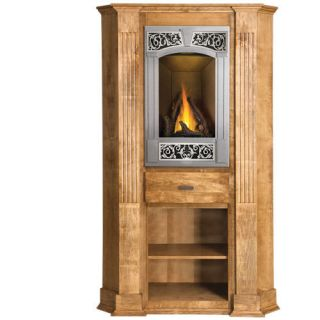 Corner fireplaces unfinished fireplace corner mantles - Space saving corner electric fireplace providing warmth for your small space ...