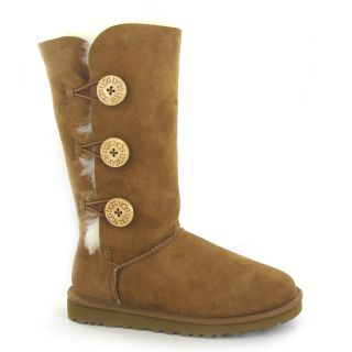 UGG Australia Bailey Button Triplet Chestnut Womens Boots