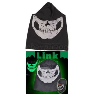 Glow Luminous Biker Paintball Balaclava Skull Ghost Ski Head Face Mask