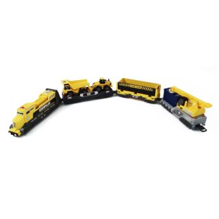 Construction Iron Diesel Motorized Train Set Battery Operated