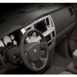 Dodge RAM Sport Carbon Fiber Navigation Radio Bezel Slate Gray