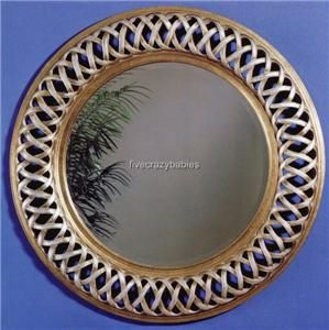 Large 45 Celtic Knot Round Wall Mirror Silver Gold Circle Twisted