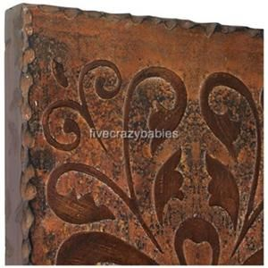 Gorgeous Copper Finish Metal Wall Art Embossed Panels Extra Large XL