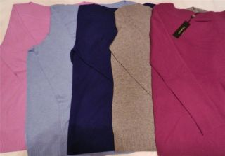 Talbots $149 Cashmere Sweater Boat Neck Long Sleeve Varied Colors