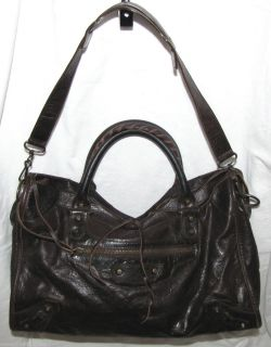 Balenciaga Paris City Bag Chocolate brown Leather Hand bag Shoulder