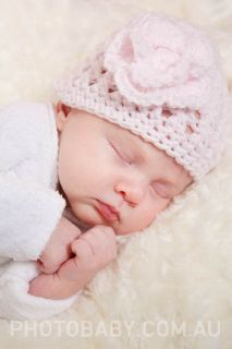 Prem Baby Knitted Crochet Beanie Bonnet Hat New Aussie Made
