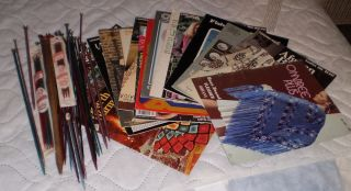Over 40 Knitting needles Susan Bayes Boye Etc n 12 plus 1970s Booklets