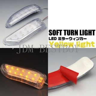 Yellow LED Car Side Mirror Turn Signal Lights Amber Indicator Soft