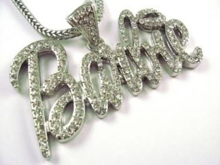 Nicki Minaj Iced Out Barbie Chain Pendant Necklace