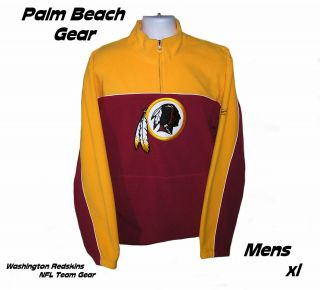 Washington Redskins NFL Embroidered Fleece Pullover XL Intro Pricing