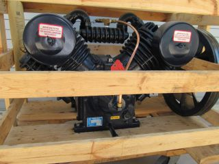 Saylor Beall USA 10 HP Model 707 Air Compressor Pump   Very Slightly