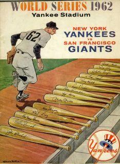 1962 World Series baseball program New York Yankees v San Francisco