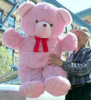 Lifesize Teddy Bear 48 Giant Plush Stuffed Animal Pink