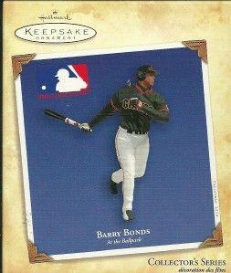 barry bonds at the ballpark 2004 hallmark ornament mib