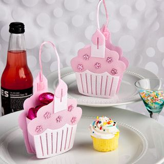 60 Pink Cup Cake Treat Bag Christening Baby Shower Favors