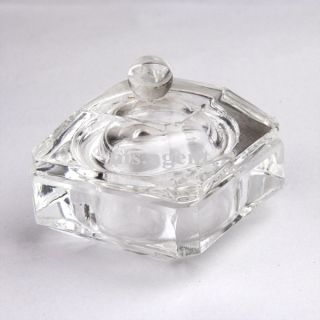 1pc Clear Crystal Dappen Dish Nail Art Acrylic Liquid Powder Glass