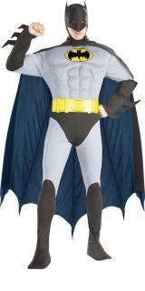 Fancy Dress Costume Deluxe Muscle Superhero Mens Batman Robin Superman