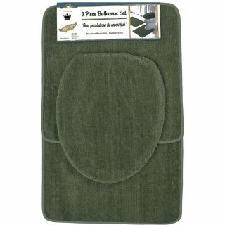 Piece Sage Green Bathroom Set Bath Contour Rug Toilet seat Cover Mat