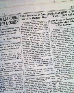 Bainbridge GA Georgia Negro Lynching 1937 Old Newspaper