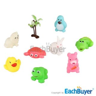 Set 8 Pcs Baby Toddler Kids Bath Float Animals Toys Christmas Gift