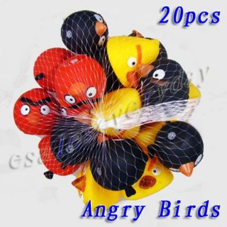 Set of 20 New Lovely Animal Angry Birds Baby Bath Toys