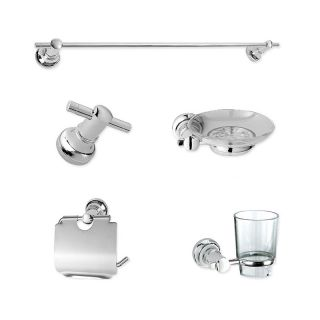 Bathroom Accessories Set Towel Rack Robe Hook Soap Dish Paper Holder