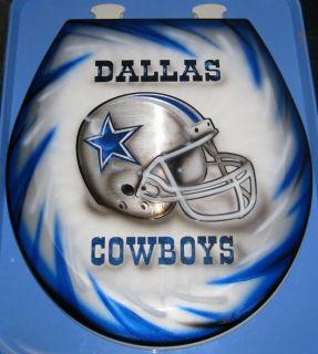 Dallas Cowboys Design Custom Airbrushed Toilet Seat Bathroom NFL