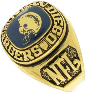 Balfour Ring Football NFL Team San Diego Chargers Sz 7