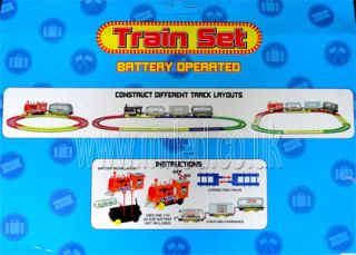 New Plastic Battery Operated Train Set Toy for Children Kids