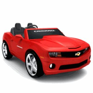 Kids Battery Powered Ride on Toy 2 Seats Seater Red Camaro Sports Car