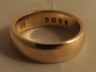 Vintage 18K 18ct Solid Gold Wedding Band U K Size P 8 7 Grams