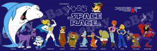 EXTRA LARGE YOGI BEAR SPACE RACE Panoramic Photo Print 2 HANNA BARBERA