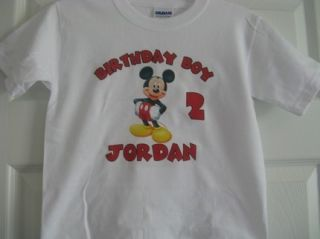 Mickey Mouse personalized birthday boy girl kids shirt baby one piece